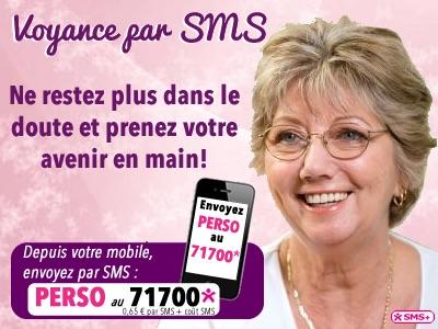 voyance par SMS, envoyez PERSO au 71700
